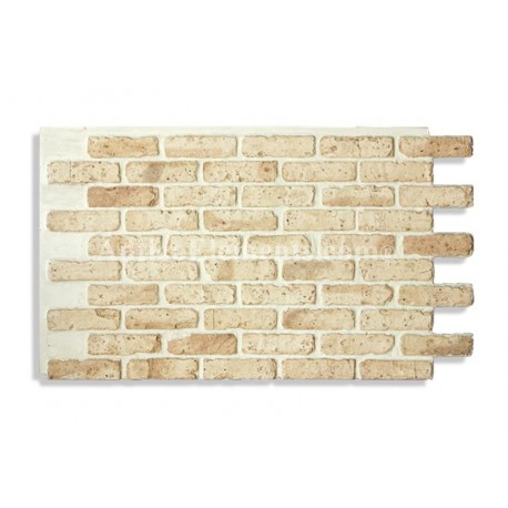 "Antico Faux Chicago Brick 28"" - Tan Light Front"