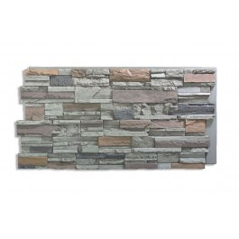 Romana Panel - Faux Rock - Gray