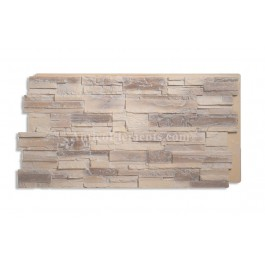 Romana Panel - Faux Stone Panels - Almond