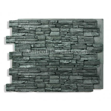 Laguna 24 x 36 stacked stone charcoal