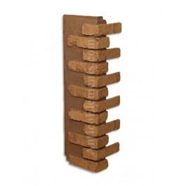 Antico Faux Brick Veneer Corner - Brown