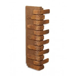 Antico Faux Brick Veneer Corner - Russet