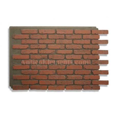 Antico panel red - Red brick wall panel ...