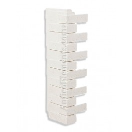 Villa Faux Brick Corner - White