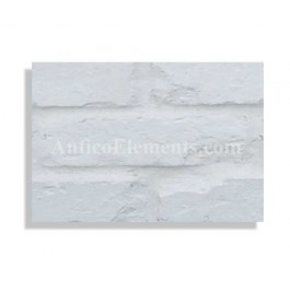 """Faux Reclaimed 27"""" Panel Brick Sample - White - With Rebate - Free Standard Shipping"""
