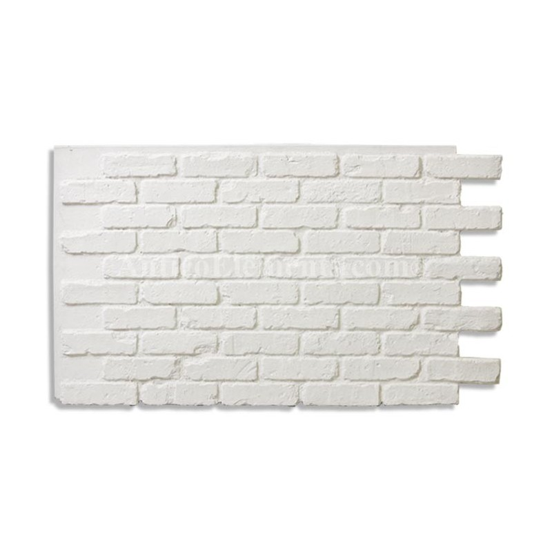 White Faux Brick
