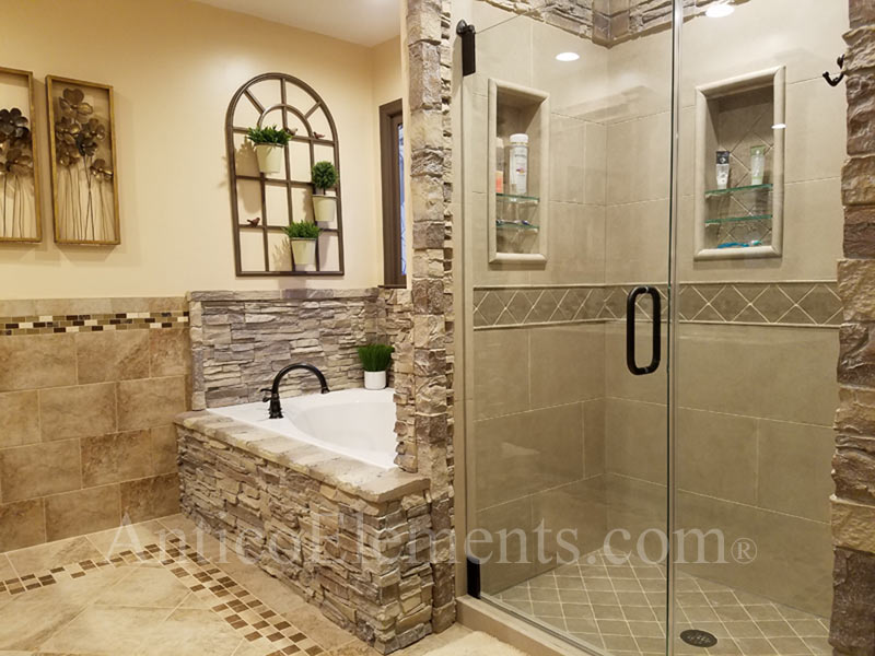 Faux Stone Cappuccino Bathroom Example