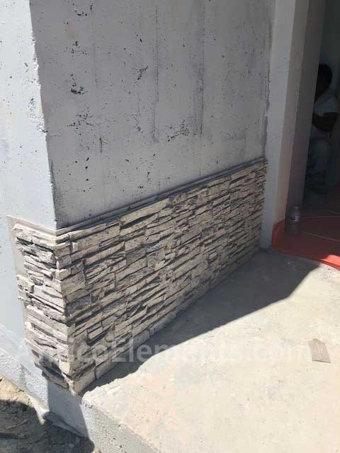 Corners made with Antico Elements Stacked Stone