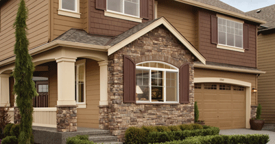 Faux stone anticoelements for Boral siding