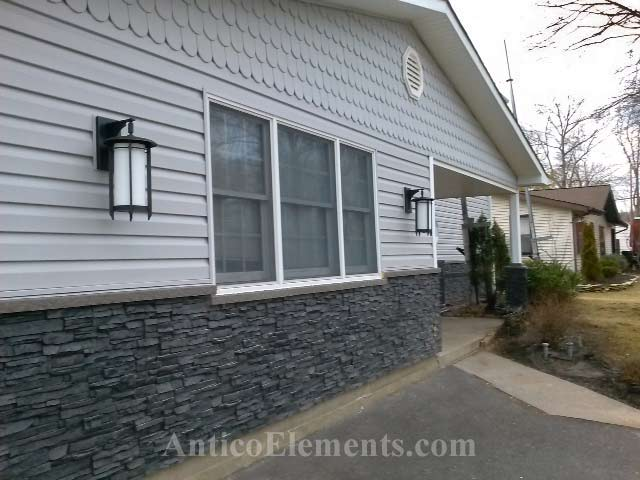 Front Siding Faux Stone Design
