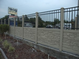 Faux Stone Fence Done Wrong