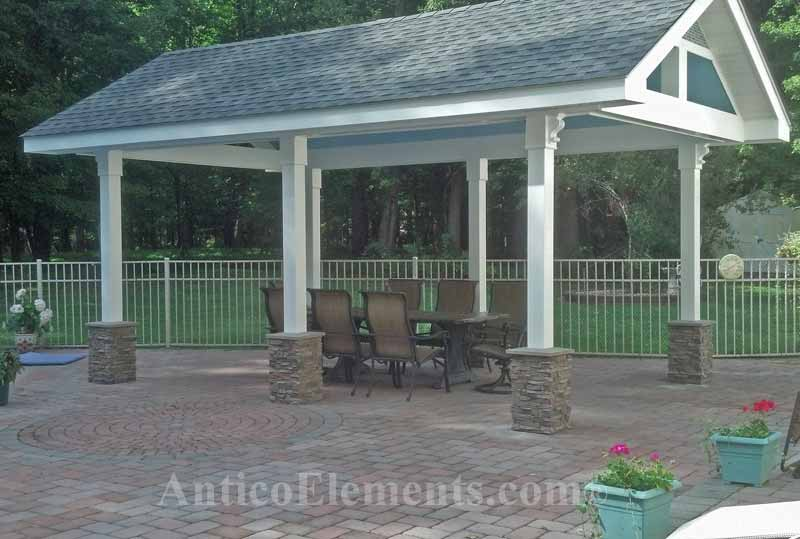 Beautiful Gazebo With Column Wraps