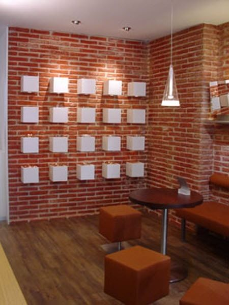 Faux brick panels for Interior faux brick wall tiles