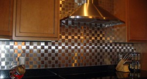 Metal Look For Back Splash