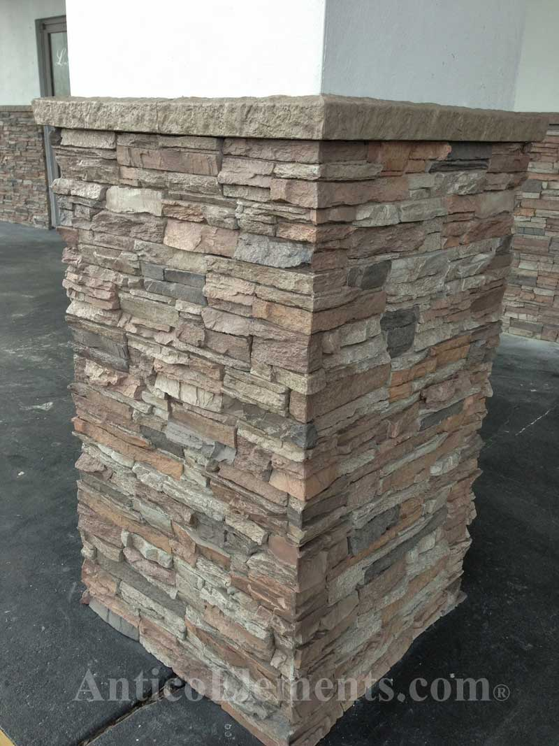Stacked Stone Installation