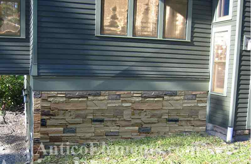 ... To Cover Concrete Foundations With Faux Brick Or Stone? No Problem