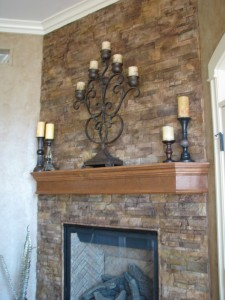 Fireplace faux stone