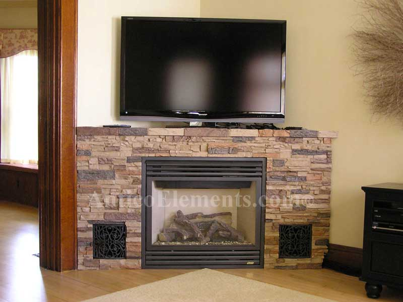 Stone Fireplace Designs And Remodel Antico Elements Blog: Faux Stone Fireplace Surrounds « Antico Elements Blog