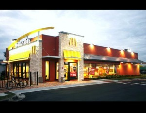 Mcdonalds with finished stone look