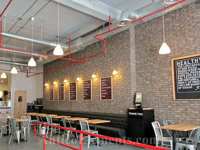 Office and restaurant faux brick applications