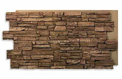 Typical stacked stone panel