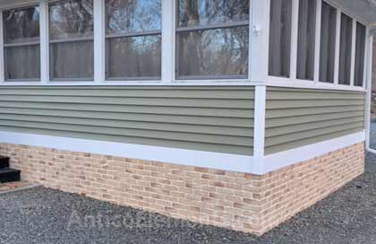 Brick Paneling For Siding And Skirting