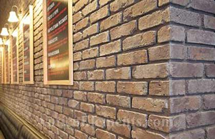 What a fake brick wall can look like.