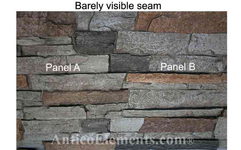 Well created panel seam