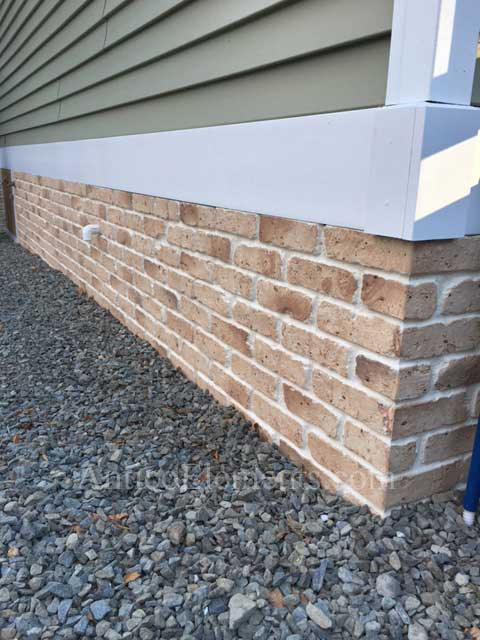 "Residential use of brick paneling 28"" Tan"