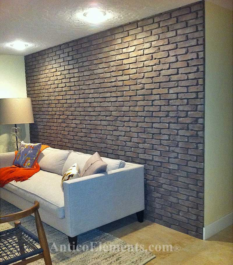 Great faux brick installation