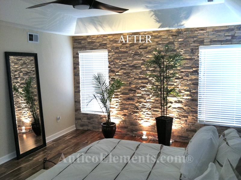 After Faux Stone Panels