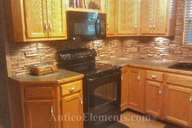 Waterproof Stone Backsplash
