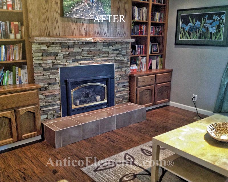 Stone Fireplace Designs And Remodel Antico Elements Blog: Real Rock