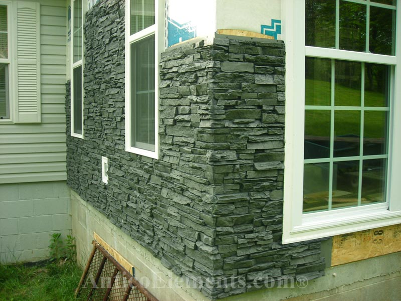 Alpi Faux Stone Panels Siding- Charcoal
