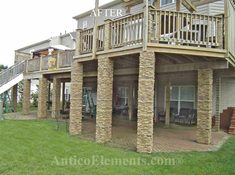 Stone Post Wraps For Decks