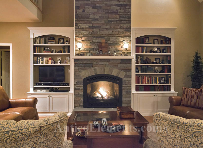 Faux Panels - Faux Stone Fireplace