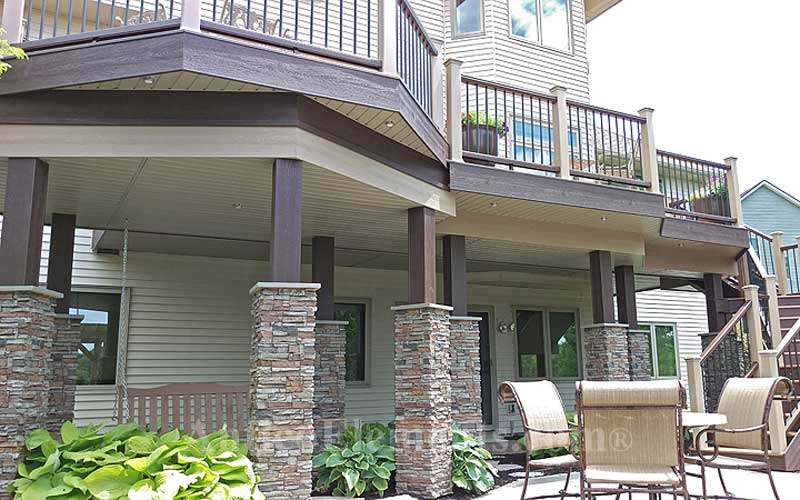 Great Faux Stone Column Installation In Gray
