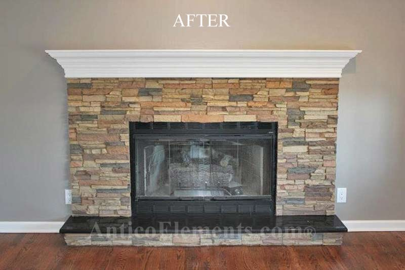 Faux stone fireplace remodeled fireplace solutioingenieria