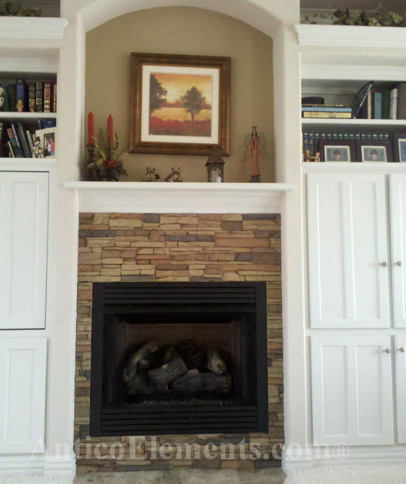Fireplace With Laguna Stone