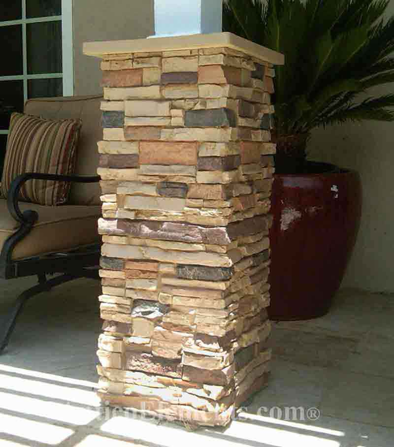 Faux Stacked Stone Post Wraps