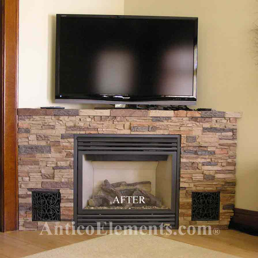 Faux Fireplace Remodel