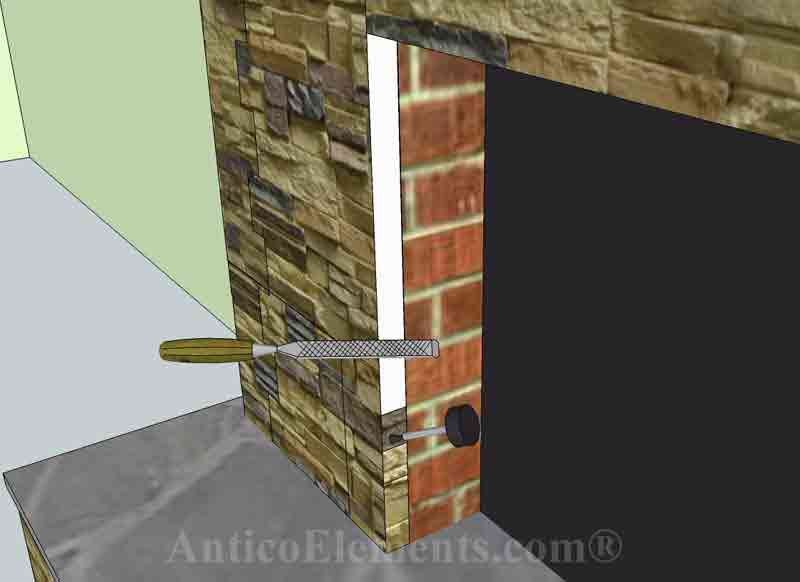 Fireplace edge
