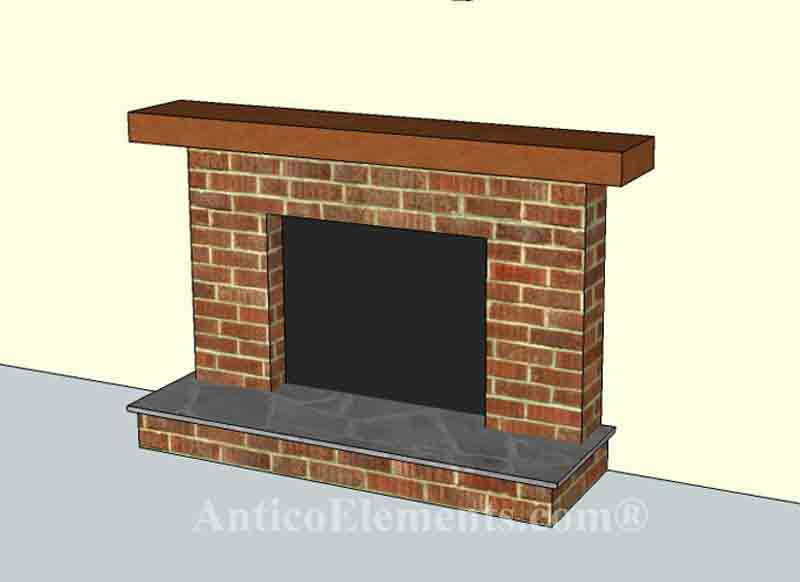 Faux Stone Fireplace Installation