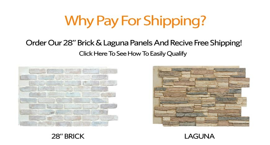 "Free Shipping For 28"" Brick And Laguna"