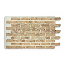 "Antico Faux Chicago Brick 28"" - Dark-Front"