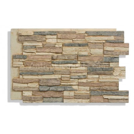 Laguna Faux Stacked Stone - Cappuccino - Front