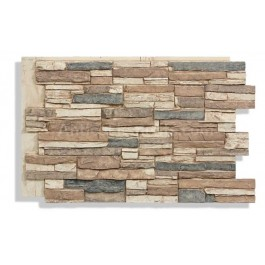 Laguna Faux Stacked Stone - Mocha - Side