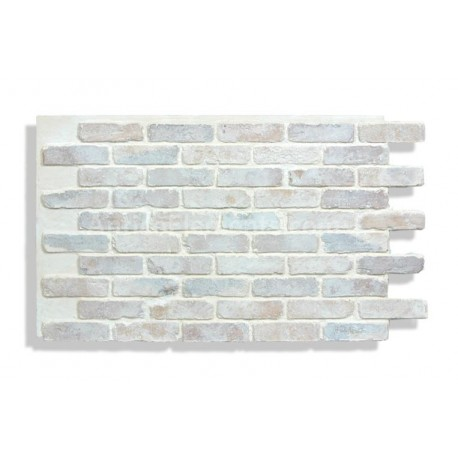 "Antico Faux Reclaimed Brick 28"" - Cotton - Front"
