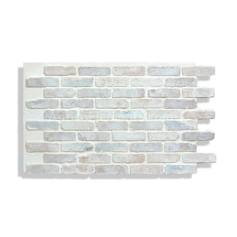 "White Faux Brick: Faux Chicago Brick 28"""