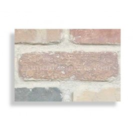 "Faux Chicago Brick 28"" Panel Sample - Retro"